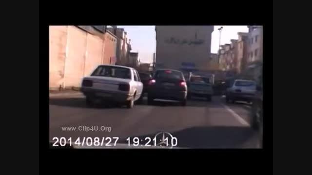 کلیپ دیدنی از تعقیب و گریز پلیس و سارق در جنوب شرق تهرا