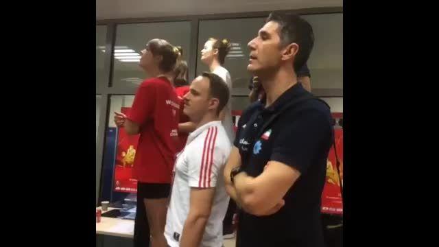 خوشحالی کواچ بعد از شکست تیم ملی والیبال آرژانتین!
