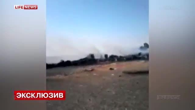 ویدئوی نخستین لحظات سقوط هواپیمای روسی