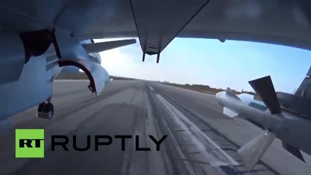 فیلمی جدید از حملات هوایی روسیه به داعش در سوریه
