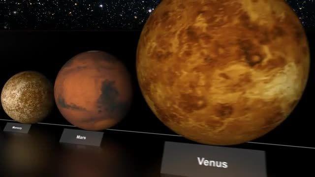 نسبت اندازه زمین با دیگر سیارات و ستاره ها