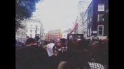 تجمع شیعیان لندن مقابل سفارت عربستان دردفاع ازشیخ النمر
