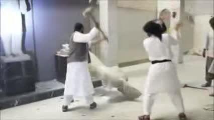 تخریب موزه بزرگ موصل به دست داعش در عراق ...