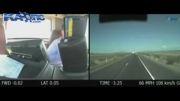 تصادف مرگبار اتوبوس با ماشین ها