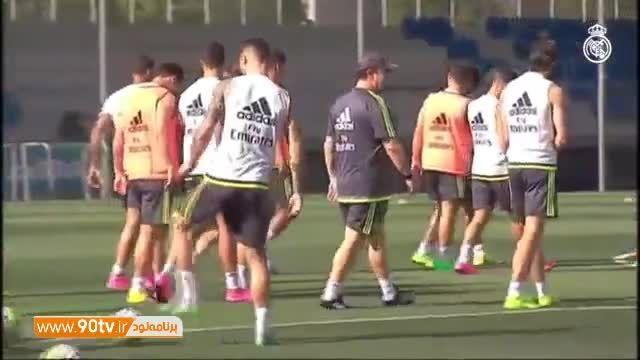 بازگشت پرقدرت رونالدو به تمرینات رئال مادرید