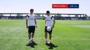 عجیب ترین تمرین فوتبال در دنیا