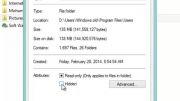 آموزش مخفی کردن فایل ها و تغییر لوگوی فولدر ها در Win8