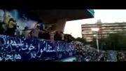 به این عکس ها خیره شو، خیره شو؛ اجرای حامد زمانی در اجتماع بزرگ تهرانی های حامی جلیلی