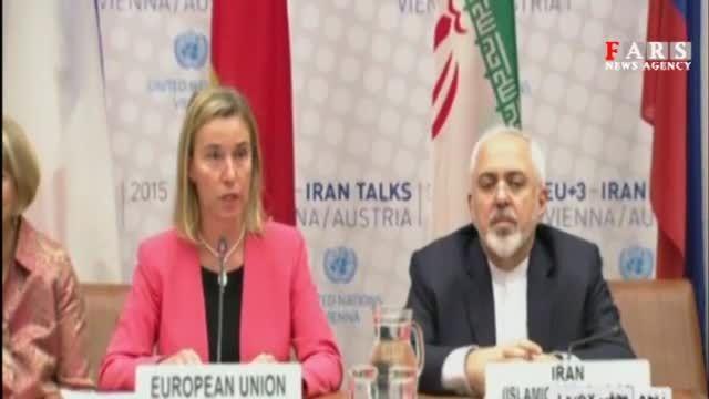اظهارات ظریف و موگرینی - نشست پایانی مذاکرات