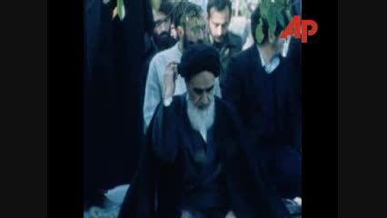 نماز امام خمینی (ره) در فرانسه