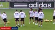 حرکت عجیب رونالدو در تمرینات رئال مادرید