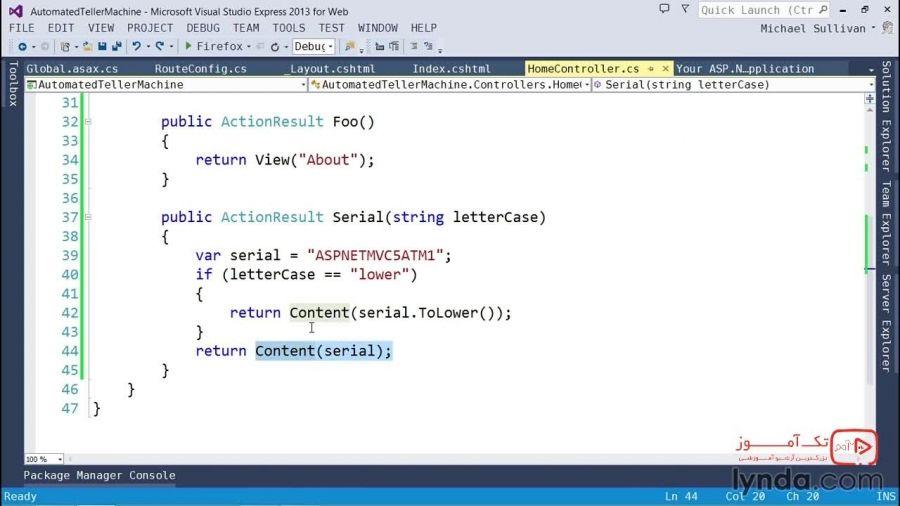 آموزش ASP.NET MVC 5 : شناخت انواع نتایج عملگر