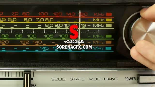 دانلود فوتیج رادیو قدیمی همراه با تغییر موج رادیو