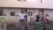 وزنه برداری حسین رضازاده وزنه 305 کیلو گرم