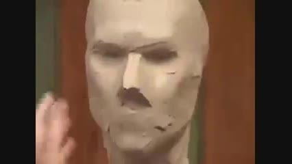 مراحل ساخت مجسمه چهره انسان