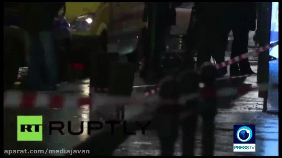 انفجار ایستگاه اتوبوس در مسکو