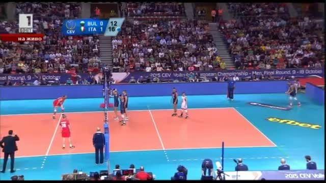 ایتالیا 3 - بلغارستان 1 | قهرمانی والیبال اروپا ۲۰۱۵