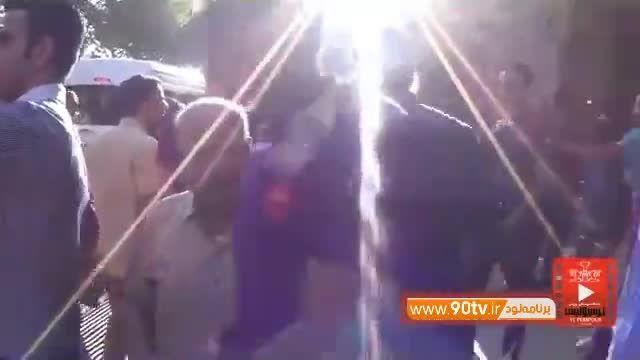 اردوی پرسپولیس در اصفهان و هجوم هواداران برای سلفی