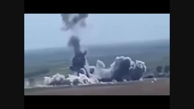 پرواز کردن خودرو انتحاری داعش !!!