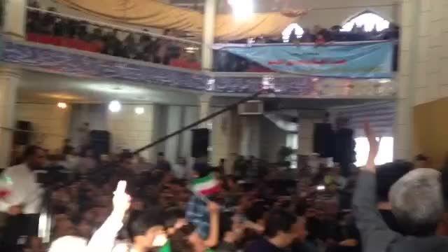 استقبال پرشور از دکتر احمدی نژاد در همدان3