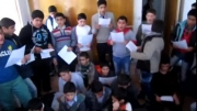 تمرین سرود حامد زمانی مرگ بر آمریکا دانش آموزان