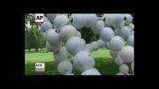 ساخت مجسمه انسان گلف باز با توپ!!