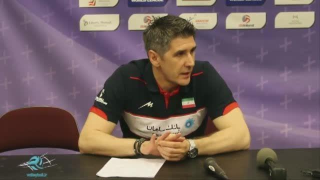 کنفرانس خبری سرمربی و کاپیتان تیم ملی والیبال