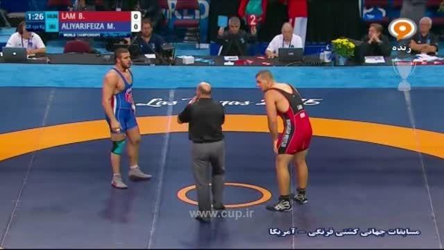 کشتی فرنگی قهرمانی جهان؛ایران(علیاری 0)-مجارستان(لام5)