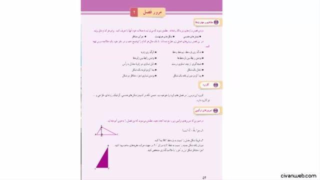 حل تمرین های ترکیبی صفحه 54 کتاب ریاضی پایه هفتم