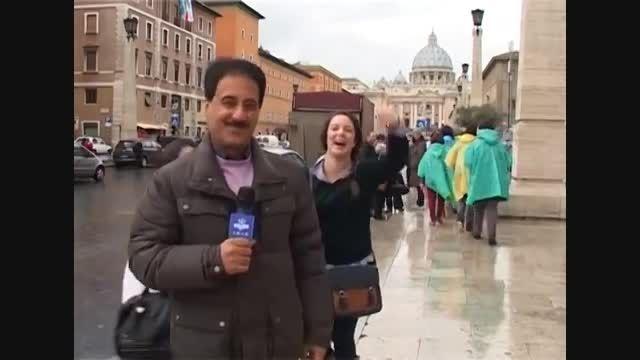 کلیپ خنده دار و جالب از گزارش معصومی نژاد،رررم@پشت صحنه
