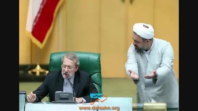 مشاجره علی لاریجانی و رسایی در مجلس