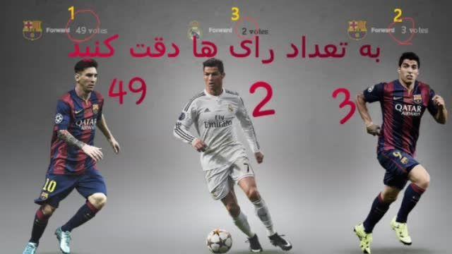 لیونل مسی بهترین بازیکن اروپا شد