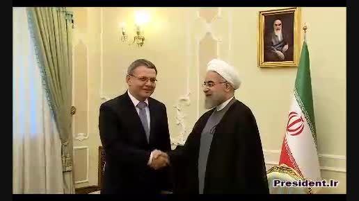 دیدار دکتر روحانی و وزیر خارجه چک