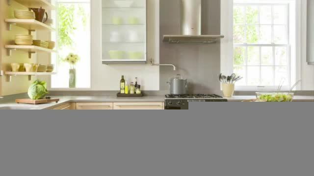 طراحی آشپزخانه - رنگ آمیزی زرد