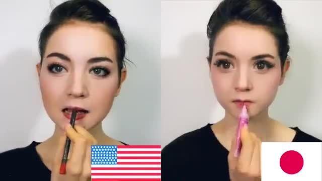 تفاوت آرایش به سبک آمریکایی و ژاپنی