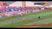 خلاصه بازی استقلال و سایپا روز یکشنبه 20 بهمن 1392