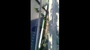 ترکیدن لوله گاز خیابان اشرفی اصفهانی