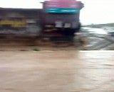 آب گرفتگی خیابان ها در حاجی آباد