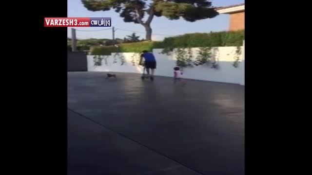 تفریح جالب مسی و فرزندش - پورتال امروز آنلاین