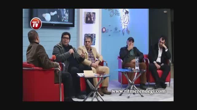 با فرهاد اصلانی در حاشیه  رونمایی از فیلم (کوچه بی نام)