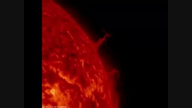 نقش برج ایفل روی خورشید