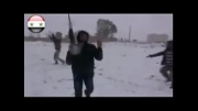 شورشیان سوریه چگونه یک روز برفی را جشن می گیرند؟