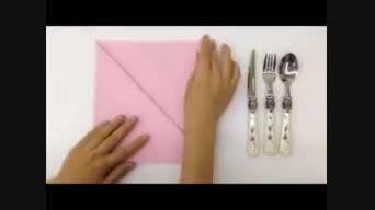 تزئین دستمال کاغذی برای سفره