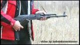 شلیک با اسلحه ی آفتامات کلاشنیکف AKM مشکی