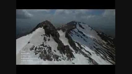 تصاویر هوایی از کوه الوند