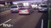 تصادف وحشتناکه راننده خواب آلود اتوبوس