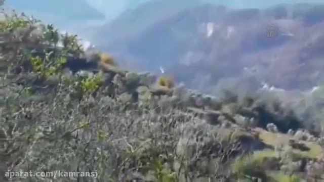 عملیات هلیکوپترهای ارتش روسیه برای یافتن خلبان روسی