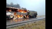 صحنه دلخراش تصادف اتوبوس اصفهان ایذه