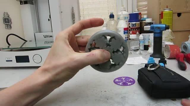 ساخت بلبرینگ دنده ای با پرینتر سه بعدی