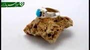 انگشتر الماس فیروزه نیشابور خوش رنگ - کد 3696